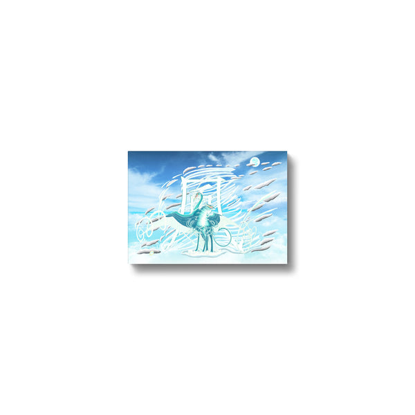 Jade Wind Crane Canvas Print in head on, wrap: white, size: 12x18""