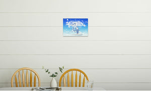 Azure Dragon of the Heavens Canvas Print in room (kitchen), wrap: white, size: 12x18""