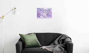 Electric Storm Dragon Canvas Print in room (sofa), wrap: white, size: 12x18""
