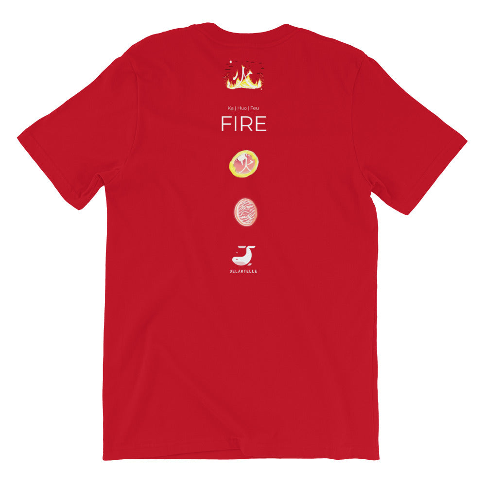 Feu T-Shirt in Red - Front view