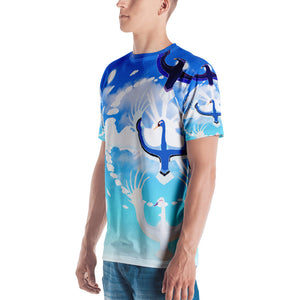 Men's Eagle Crane Swan Verticillia T-shirt