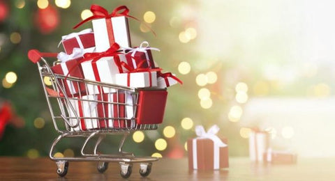 an image of a cart filled with presents