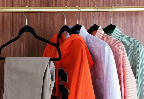an image of clothes hanging