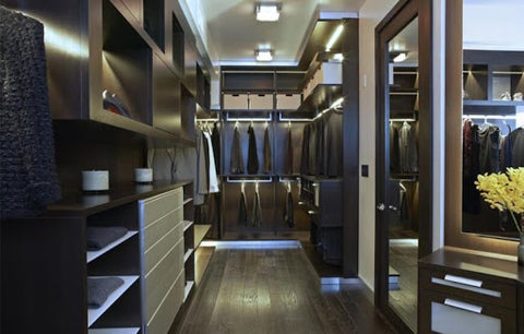 luxurious walk-in closet