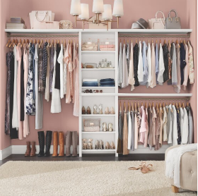 organized and well-lit closet