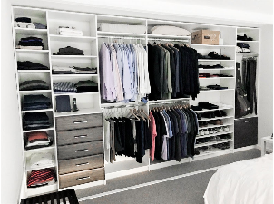 organized and sleek closet