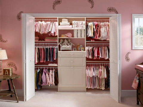 an image of a walk-in baby closet