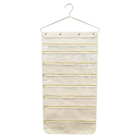 Closet Complete Closet Organization Silver 44 Pocket Oxford Canvas Hanging Jewelry Organizer
