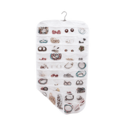 Closet Complete Soft Storage White 80 Pocket Hanging Jewelry Organizer