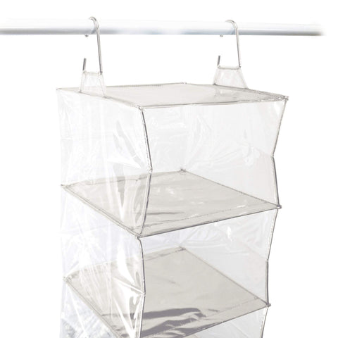 Closet Complete Closet Organization Silver Completely Clear 5 Shelf Organizer