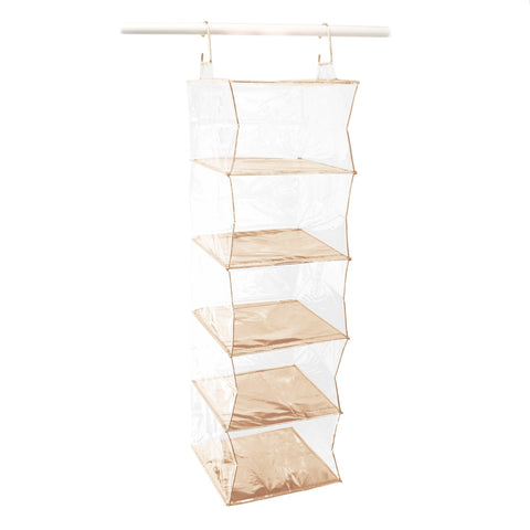 Closet Complete Closet Organization Rose Gold Completely Clear 5 Shelf Organizer