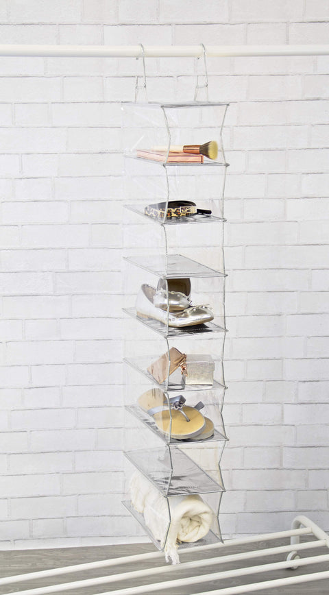 Closet Complete Closet Organization Silver Completely Clear 8 Shelf Organizer