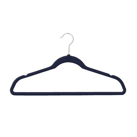 Closet Complete Velvet Hangers 10 / Black / Chrome Elite High Quality 70g Velvet Suit Hangers