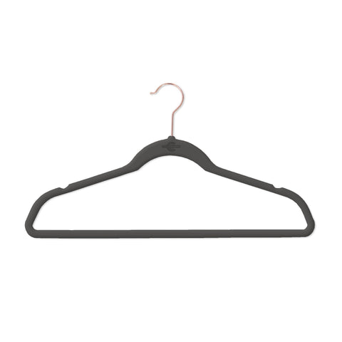 Closet Complete Velvet Hangers 25 / Black / Chrome Premium Heavyweight 80g Velvet Suit Hangers