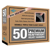 Closet Complete Velvet Hangers 50 / Heather Gray / Rose Gold Premium Heavyweight 80g Velvet Suit Hangers