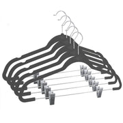 Closet Complete Velvet Hangers 5 / Heather Gray / Chrome Premium Heavyweight 90g Velvet Hangers with Clips