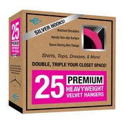 Closet Complete Velvet Hangers 25 / Pink / Chrome Premium Heavyweight Velvet Shirt/Dress Hangers