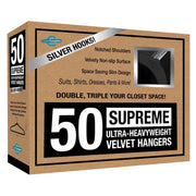Closet Complete Velvet Hangers 50 / Black / Chrome Supreme Ultra-Heavyweight 85g Velvet Suit Hangers