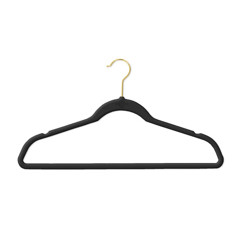 Closet Complete Velvet Hangers 25 / Black / Chrome Supreme Ultra-Heavyweight 85g Velvet Suit Hangers