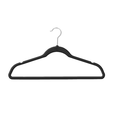 Closet Complete Velvet Hangers 25 / Black / Chrome Supreme Ultra-Heavyweight 85g Velvet Suit Hangers 71590