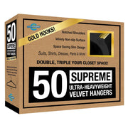 Closet Complete Velvet Hangers 50 / Black / Gold Supreme Ultra-Heavyweight 85g Velvet Suit Hangers