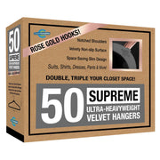 Closet Complete Velvet Hangers 50 / Heather Gray / Rose Gold Supreme Ultra-Heavyweight 85g Velvet Suit Hangers 71635