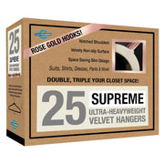 Closet Complete Velvet Hangers 25 / Ivory / Rose Gold Supreme Ultra-Heavyweight 85g Velvet Suit Hangers