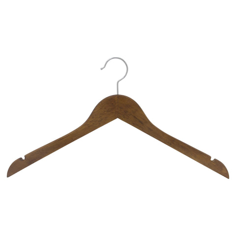 Closet Complete Wood Hangers 5 / Natural / Gold Premium Wood Shirt Hangers