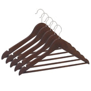 Closet Complete Wood Hangers 5 / Walnut / Chrome Premium Wood Suit Hangers