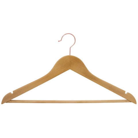 Closet Complete Wood Hangers 5 / Natural / Gold Premium Wood Suit Hangers
