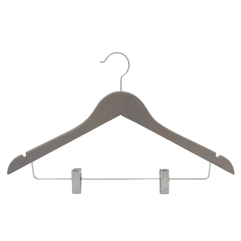 Closet Complete Wood Hangers 5 / Natural / Gold Premium Wooden Pants/Skirt Hangers with Clips