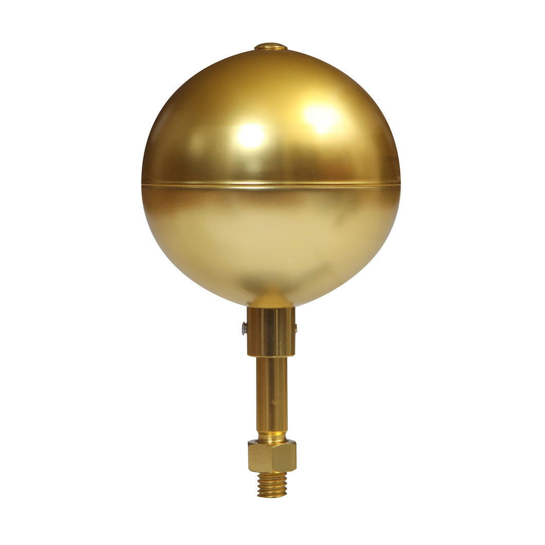 Gold Anodized Ball Ornament Flagpole Topper
