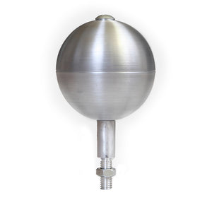 Silver Ball Ornament Flagpole Topper