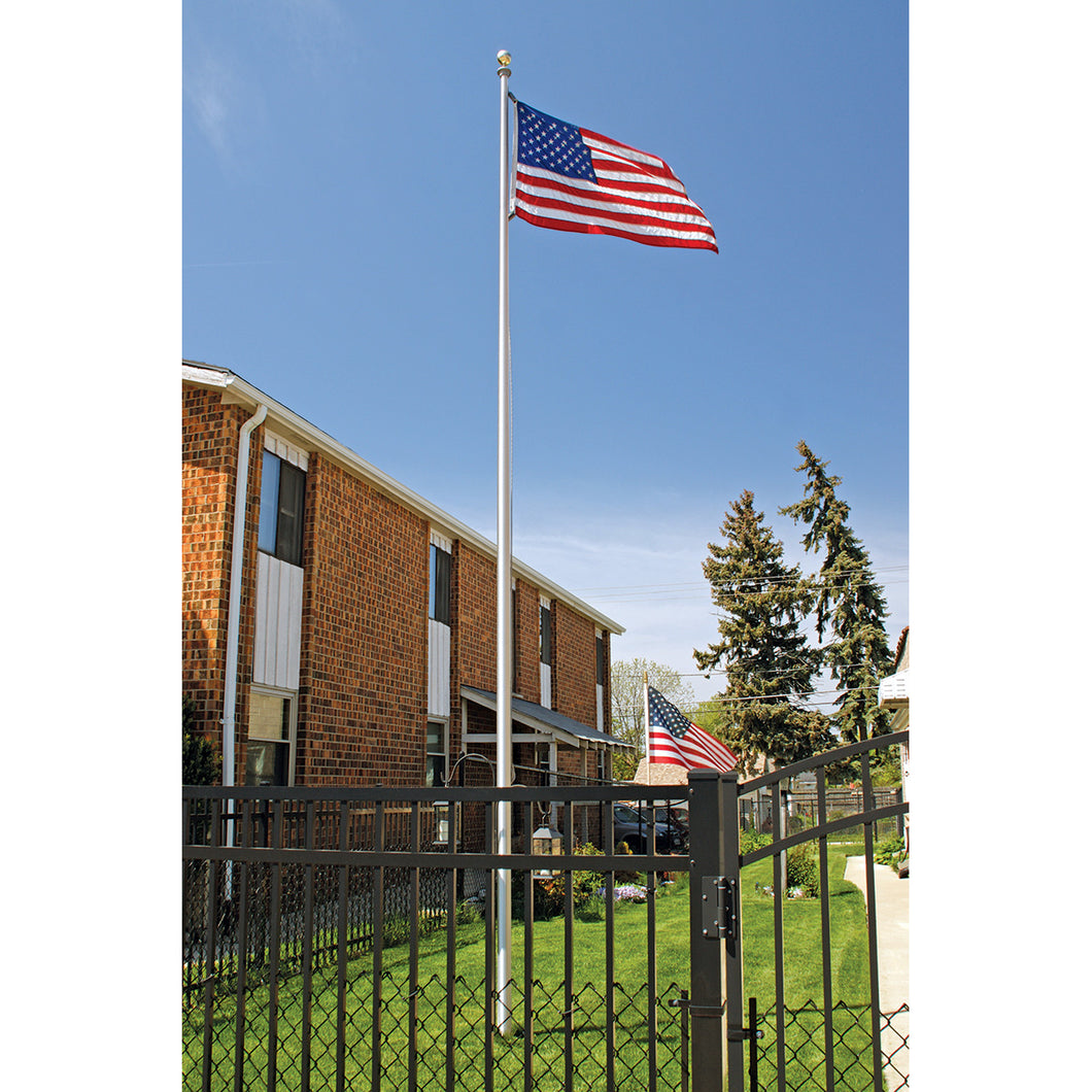 20' Special Budget Sectional Flagpole Kit - Satin, Clear, Bronze, or Black Finish