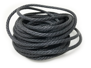 "5/16"" Black Halyard Rope with Stainless Steel Cable Core"