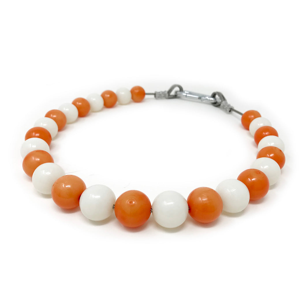 Beaded Retainer Ring Sling - White/Orange University of Tennessee UT