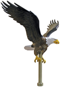 "Aluminum Natural Eagle - 11 1/4"" Wingspan"