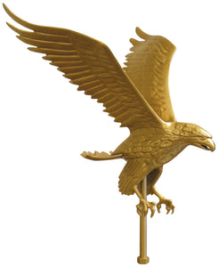 "Aluminum Gold Eagle - 15"" Wingspan"