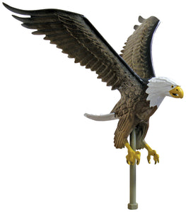 "Aluminum Natural Eagle - 15"" Wingspan"