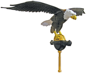 "Aluminum Natural Eagle - 24"" Wingspan"