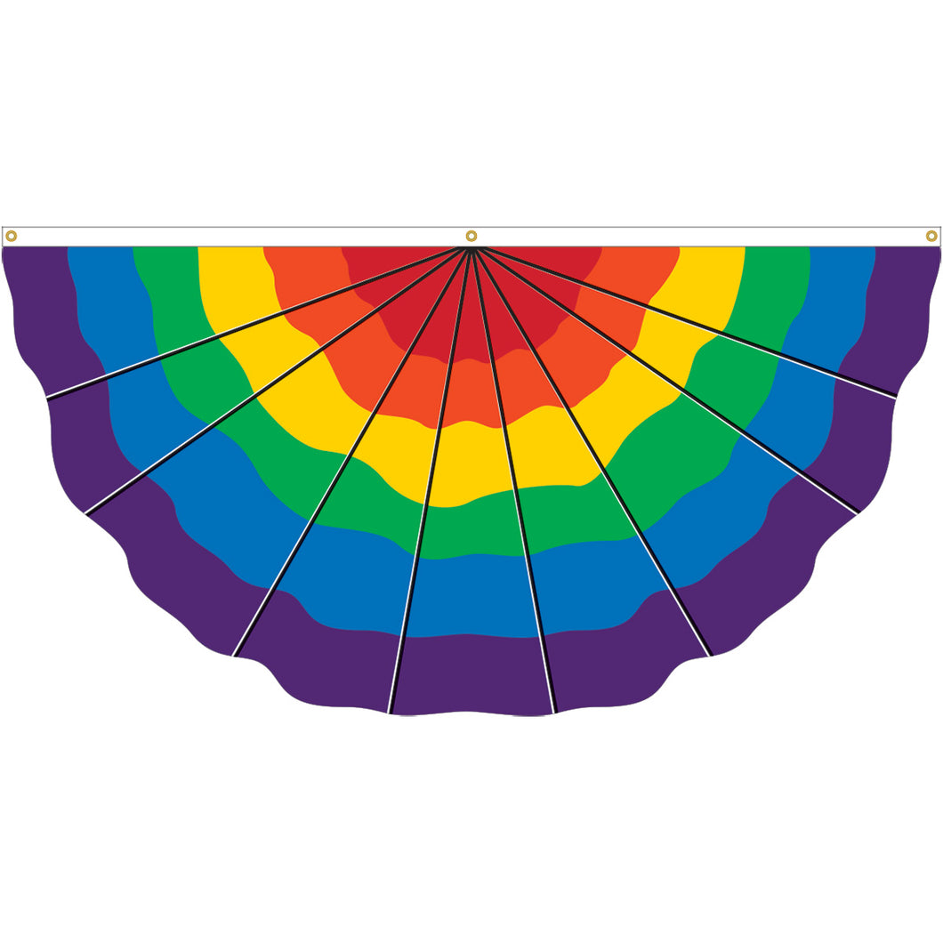 Rainbow Pride Fan Flag - 3' x 6'