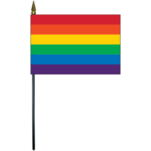 Rainbow E-Gloss Mounted Flags - 4