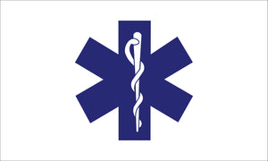 Star of Life Nylon Outdoor Flag