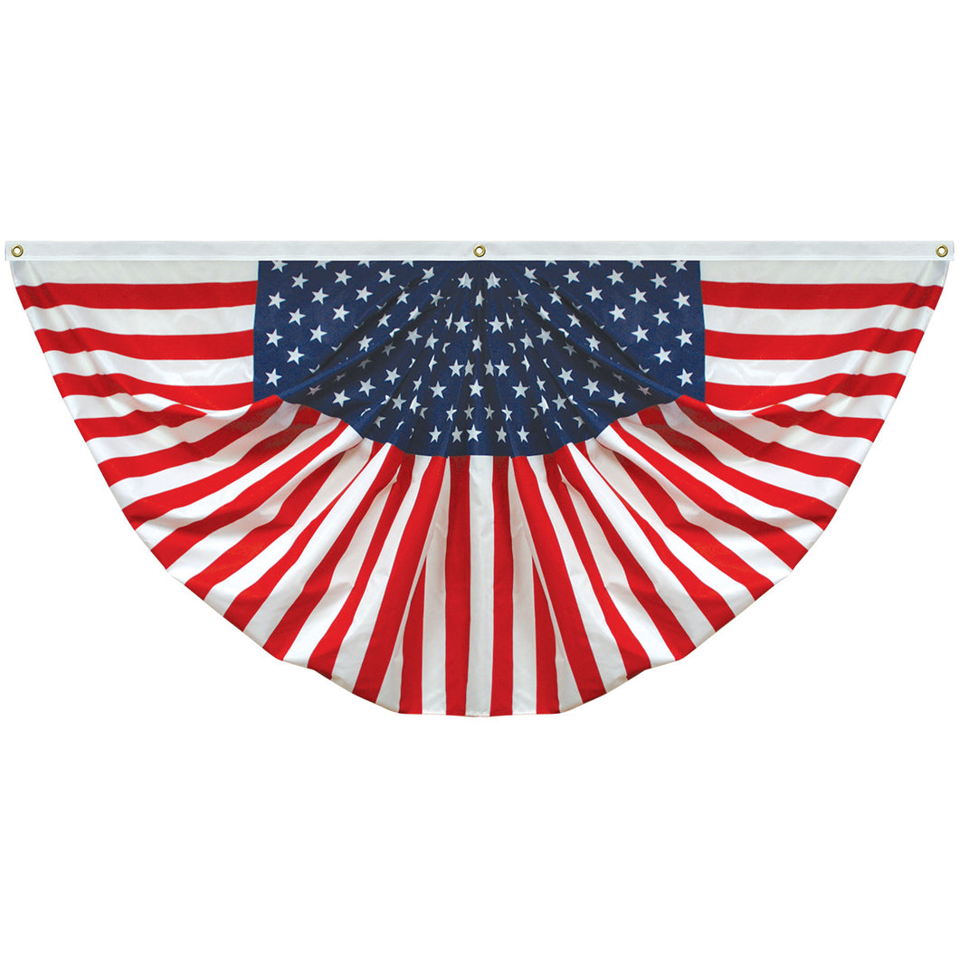 Americana 3' x 6' Endura-Poly Printed Pleated Fan