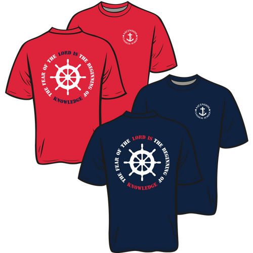 ASCENSION CLASSICAL SCHOOL **ANCHOR SHORT SLEEVE TEES**  **Last day to order is July 26th  Please put students grade in place of teacher name.
