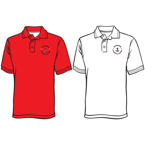 ASCENSION CLASSICAL SHORT SLEEVE EMBROIDERED POLO  ****Last day to order is July 26th  Please put students grade in place of teacher name.