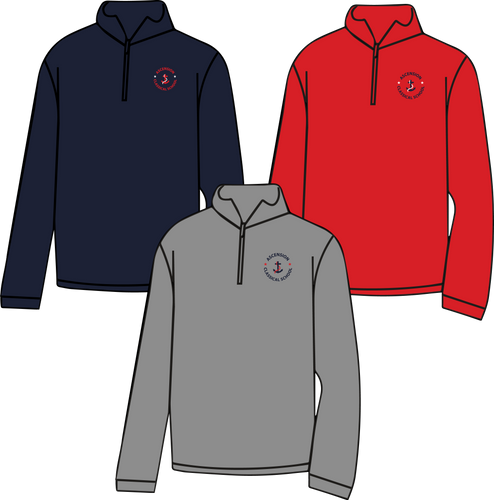 ASCENSION CLASSICAL 1/4 ZIP SWEATSHIRT    **Last day to order is July 26th  Please put students grade in place of teacher name.