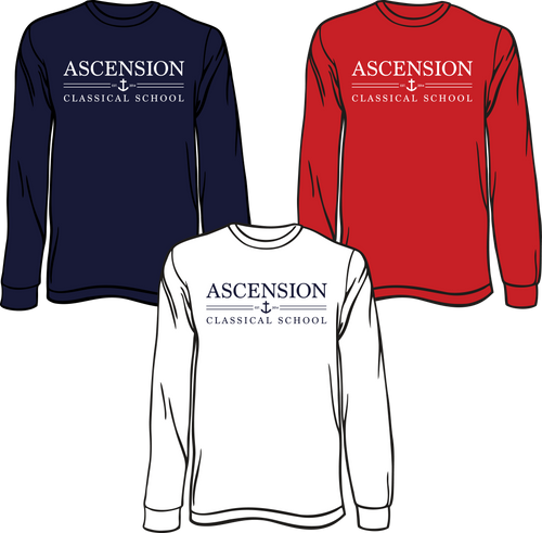ASCENSION CLASSICAL SCHOOL **EST 2014 LONG SLEEVE TEES** **Last day to order is July 26th  Please put students grade in place of teacher name.