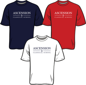 ASCENSION CLASSICAL SCHOOL **EST 2014 SHORT SLEEVE TEES**  **Last day to order is July 26th  Please put students grade in place of teacher name.