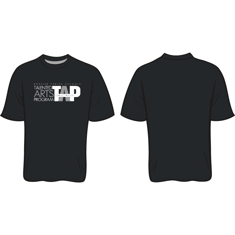 BOSSIER PARISH TAP SHORT SLEEVE LOGO TEES - CUTOFF TO ORDER IS SEPTEMBER 13TH    WE WILL NOT PRINT TILL AFTER THE ORDERS ARE FULLY RECEIVED   *****PLEASE PUT SCHOOL NAME NEXT TO TEACHER NAME